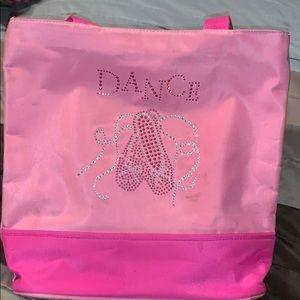 Bucket style dance bag